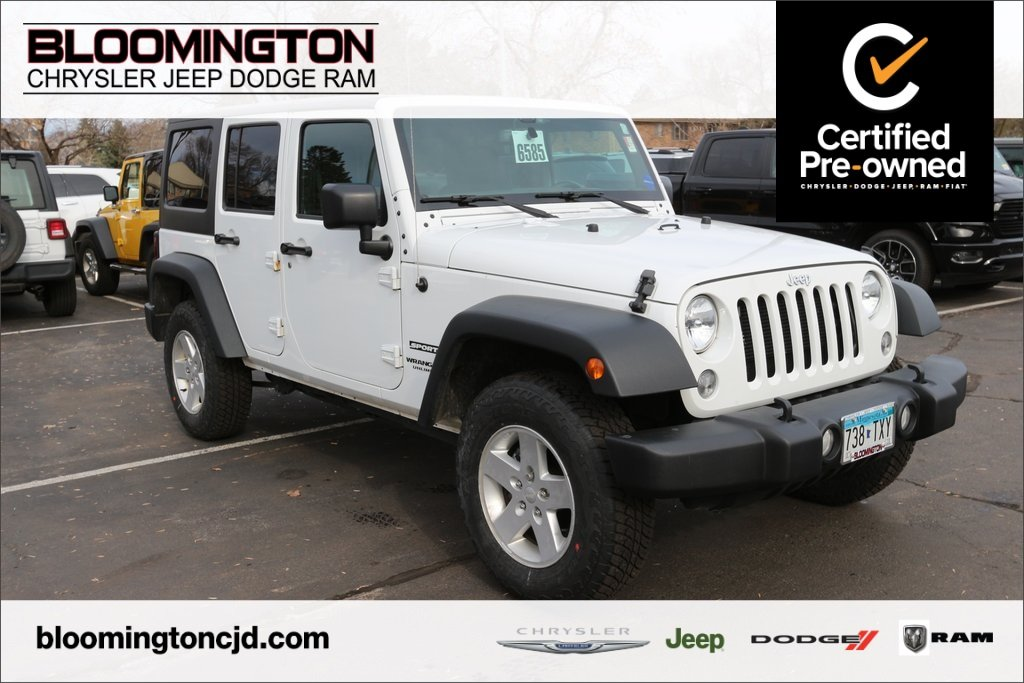 Pre Owned 2015 Jeep Wrangler Unlimited Unlimited Sport 4x4 Automatic