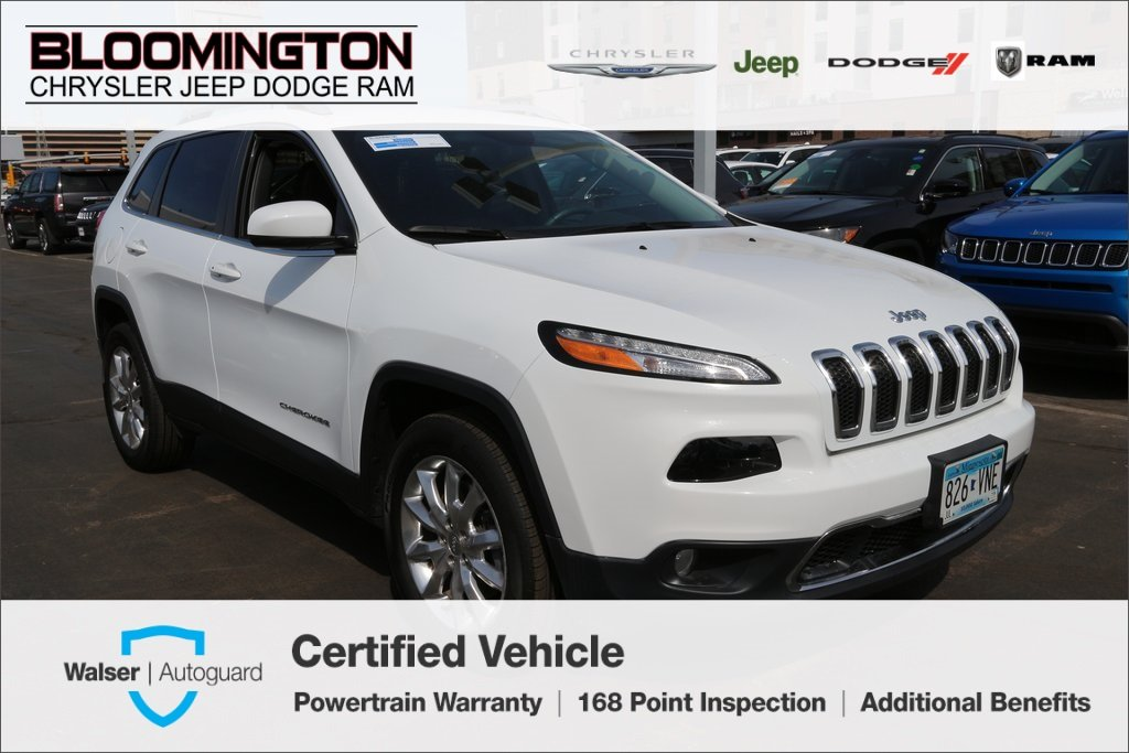 Pre-Owned 2016 Jeep Cherokee Limited 4x4 Heated Leather Navigation