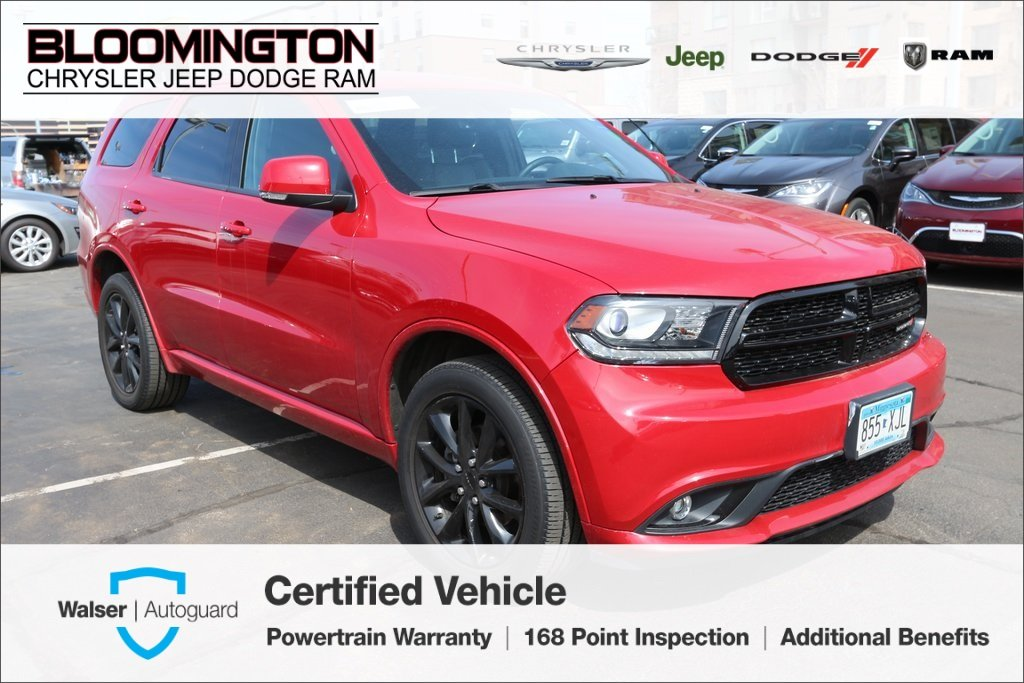 Pre-Owned 2017 Dodge Durango GT AWD Blacktop Tow Captain Chairs