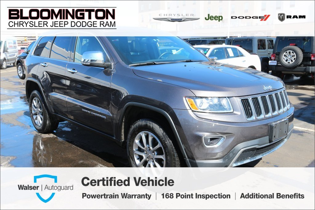 Pre-Owned 2015 Jeep Grand Cherokee CERTIFIED Limited 4x4 Navigation Sunroof