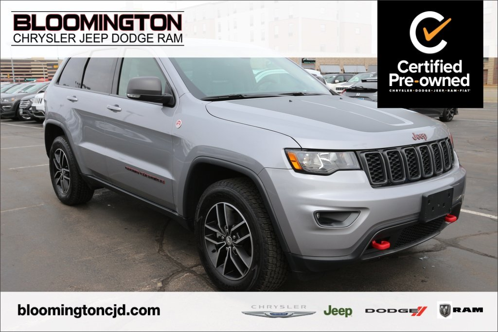 Pre-Owned 2018 Jeep Grand Cherokee CERTIFIED Trailhawk 4x4 Navigation Blind Spot