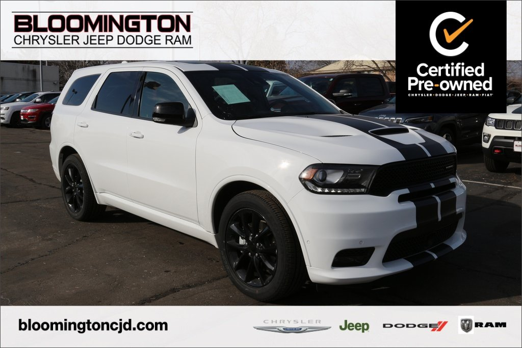 Pre-Owned 2018 Dodge Durango CERTIFIED R/T Blacktop AWD Navigation Sunroof Tow