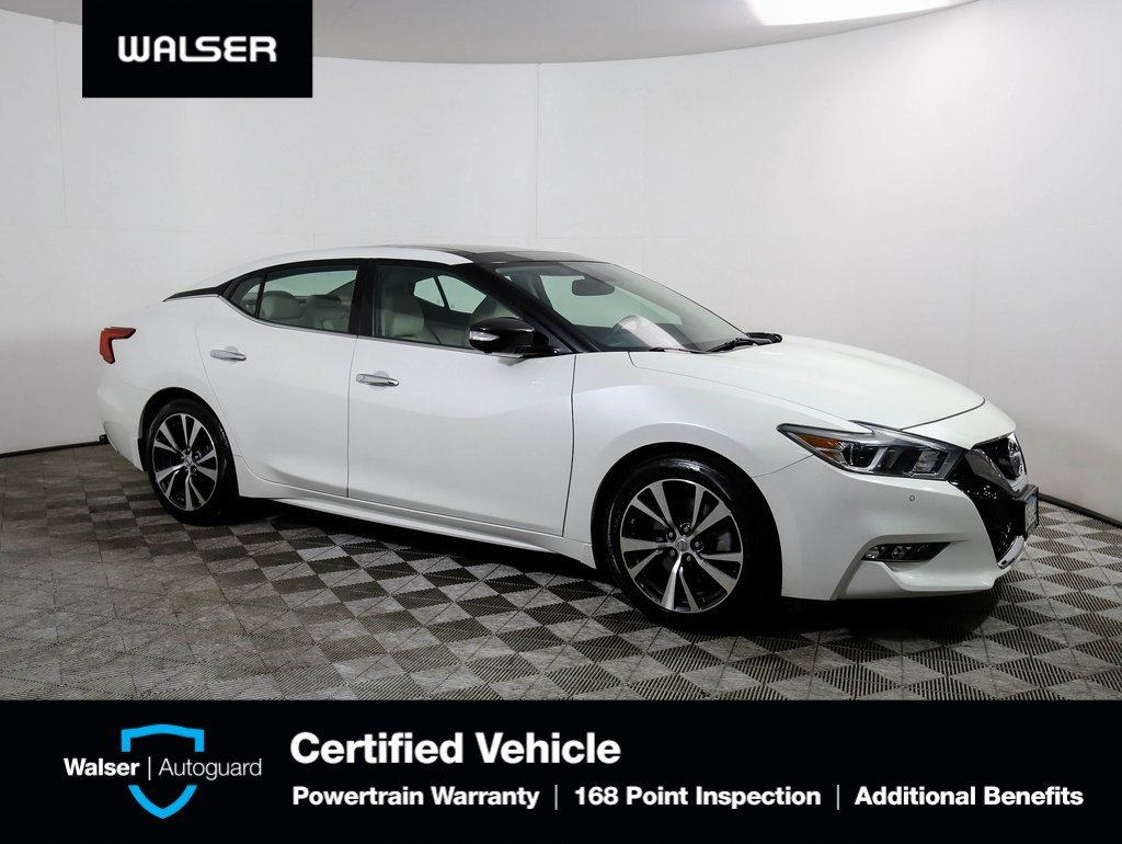 Pre-Owned 2016 Nissan Maxima PLATINUM HTD COOLED LEATHER MOONROOF BOSE NAV  BCAM With Navigation