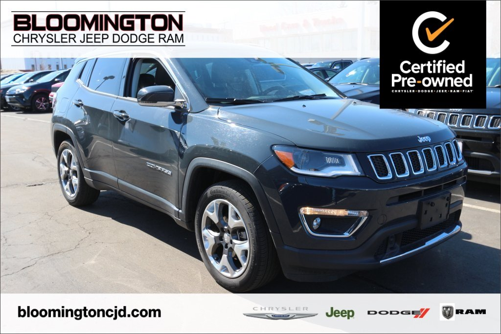 Pre-Owned 2018 Jeep Compass CERTIFIED Limited FWD Navigation Heated Leather
