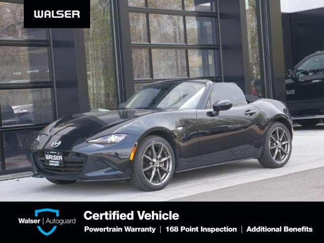 Pre-Owned 2016 Mazda MX-5 Miata Grand Touring Htd Lthr Nav Soft Top