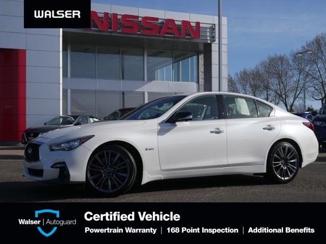 Pre-Owned 2018 INFINITI Q50 Red Sport 400 With Navigation & AWD