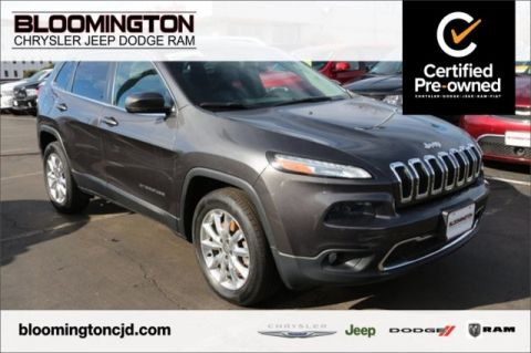 Pre-Owned 2015 Jeep Cherokee CERTIFIED Limited 4X4 Heated Leather Backup Camera