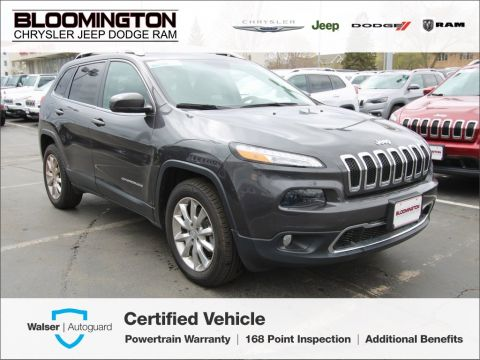 Pre-Owned 2016 Jeep Cherokee Limited 4x4 Heated Leather Backup Camera