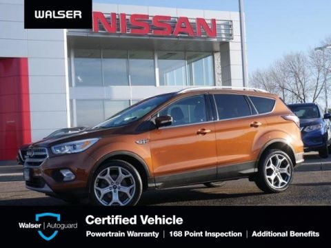 Pre-Owned 2017 Ford Escape TITANIUM 4WD PANO MOON HTD LTHR NAV