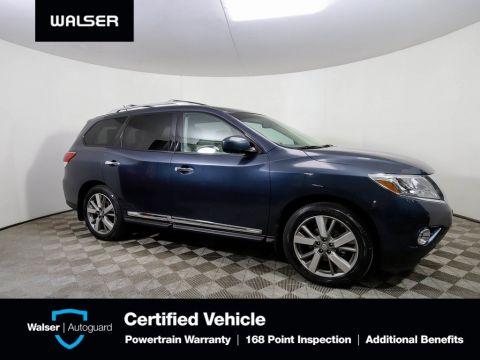 Pre-Owned 2015 Nissan Pathfinder PLAT AWD DUAL DVD